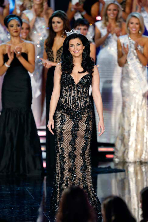 "<div class=""meta ""><span class=""caption-text "">Miss America 2012, Laura Kaeppeler, appears during 'The 2013 Miss America Pageant' telecast live from the Planet Hollywood Resort and Casino in Las Vegas on Saturday, January 12, 2013. (ABC Photo/ Craig Sjodin)</span></div>"