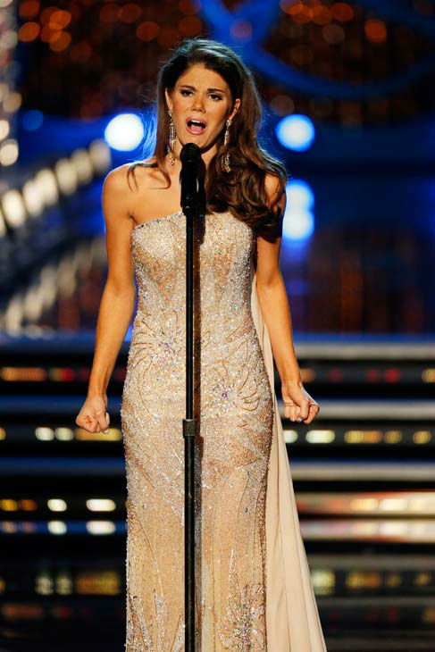 "<div class=""meta ""><span class=""caption-text "">Miss Maryland, Joanna Guy, appears during 'The 2013 Miss America Pageant' telecast live from the Planet Hollywood Resort and Casino in Las Vegas on Saturday, January 12, 2013. (ABC Photo/ Craig Sjodin)</span></div>"