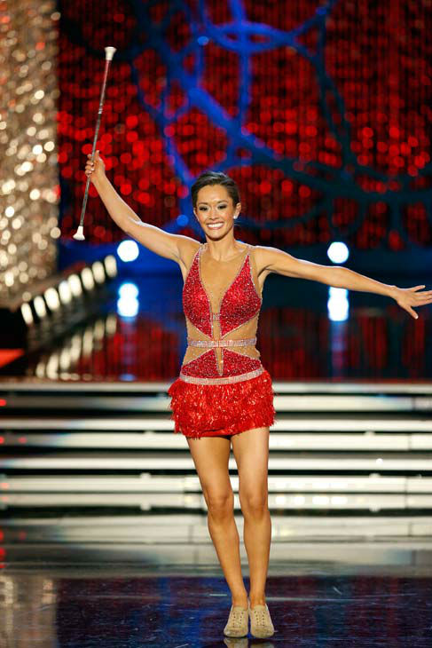 "<div class=""meta ""><span class=""caption-text "">Miss Texas, Danae Couch, appears during 'The 2013 Miss America Pageant' telecast live from the Planet Hollywood Resort and Casino in Las Vegas on Saturday, January 12, 2013. (ABC Photo/ Craig Sjodin)</span></div>"