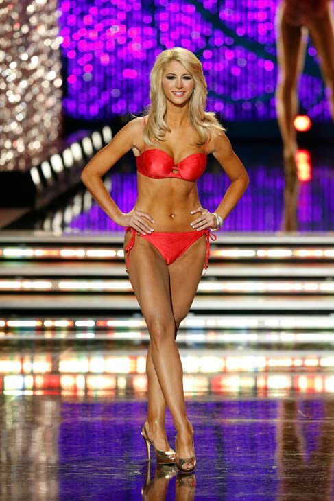 "<div class=""meta ""><span class=""caption-text "">Miss Florida, Laura Mckeeman, appears in the swimsuit competition of 'The 2013 Miss America Pageant' telecast live from the Planet Hollywood Resort and Casino in Las Vegas on Saturday, January 12, 2013. (ABC Photo/ Craig Sjodin)</span></div>"
