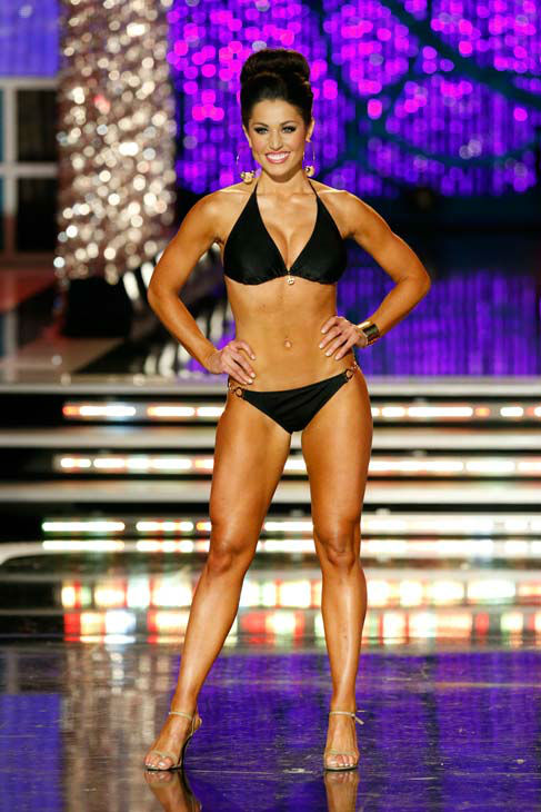 Miss Illinois, Megan Ervin, appears in the swimsuit competition of 'The 2013 Miss America Pageant' telecast live from the Planet Hollywood Resort and Casino in Las Vegas on Sa