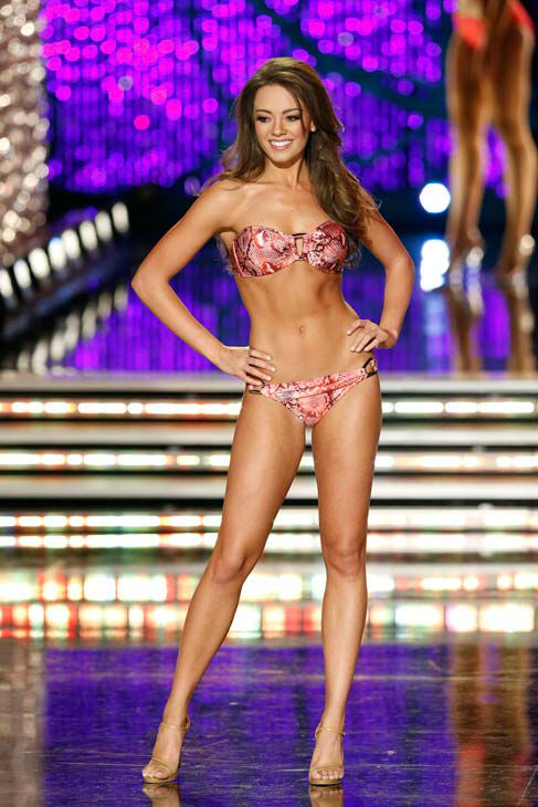 Miss Kentucky, Jessica Casebolt, appears in the swimsuit competition of 'The 2013 Miss America Pageant' telecast live from the Planet Hollywood Resort and Casino in Las Vegas on Saturday, January 12