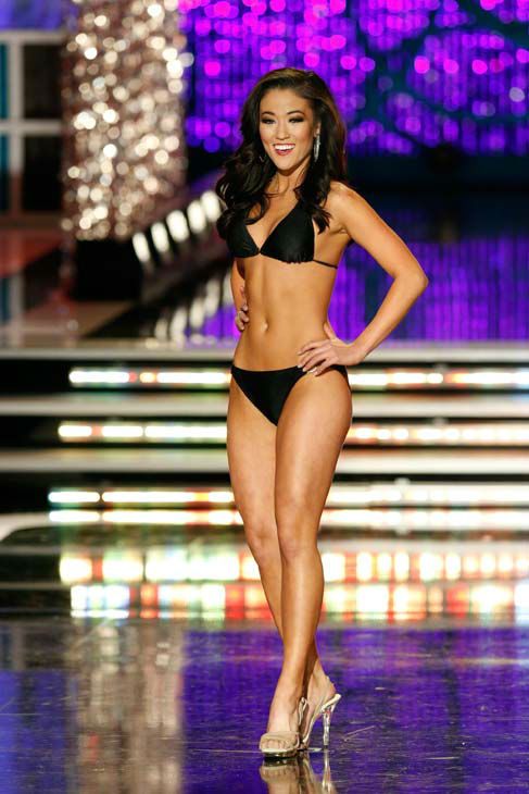 Miss Oklahoma, Alicia Clifton, appears in the swimsuit competition of 'The 2013 Miss America Pageant' telecast live from the Planet Hollywood Resort and Casino in Las Vegas on Saturday, January 12, 2013.