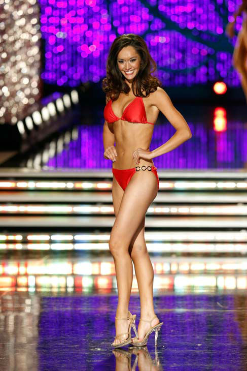 Miss Texas, Danae Couch, appears in the swimsuit competition of 'The 2013 Miss America Pageant' telecast live from the Planet Hollywood Res