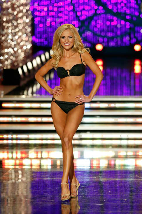 Miss Utah, Kara Arnold, appears in the swimsuit competition of 'The 2013 Miss America Pageant' telecast live from the Planet Hollywood Resort and Casino in Las Vegas on Saturday, January 12, 2013.