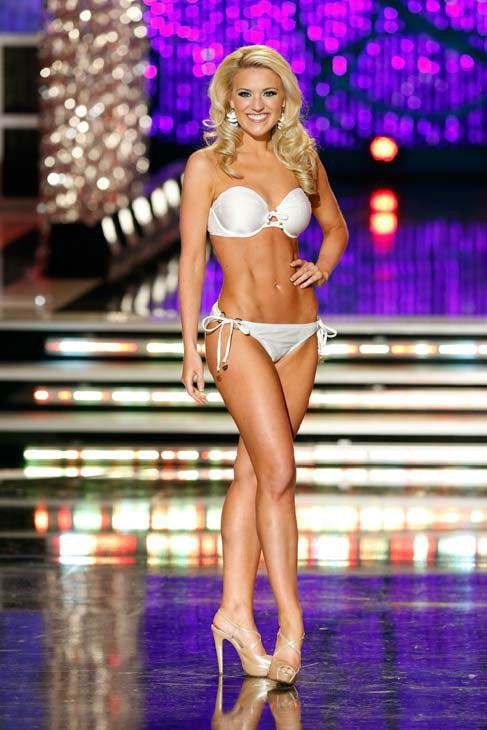 Miss Washington, Mandy Schendel, appears in the swimsuit competition of &#39;The 2013 Miss America Pageant&#39; telecast live from the Planet Hollywood Resort and Casino in Las Vegas on Saturday, January 12, 2013. <span class=meta>(ABC Photo&#47; Craig Sjodin)</span>