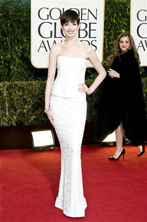 Anne Hathaway appears at the 70th annual Golden Globe Awards in Los Angeles, California on Jan. 13, 2013.  <span class=meta>(Robert Rosano &#47; startraksphoto.com)</span>