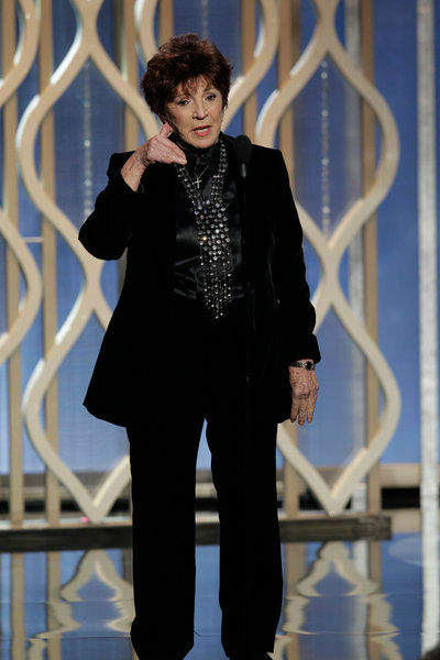 Pictured: Dr. Aida Takia-O'Reilly on stage during the 70th Annual Golden Globe Awards held at the Beverly Hilton Hotel on January 13, 2013