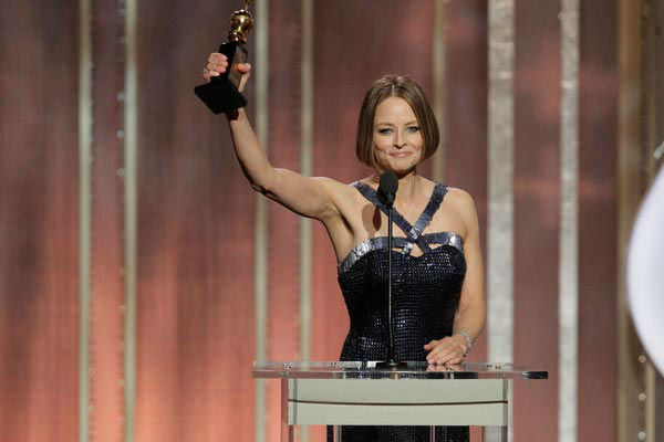 "<div class=""meta ""><span class=""caption-text "">Jodie Foster's speech  While accepting the Cecil B. DeMille Award, Foster gave a speech where she mentioned by name her former partner of 20 years and suggested that she may retire from acting.  A full transcript of the actress' speech can be seen here.   (Pictured: Jodie Foster, Cecil B. Demille Award Recipient on stage during the 70th Annual Golden Globe Awards held at the Beverly Hilton Hotel on January 13, 2013.) (Paul Drinkwater/NBC)</span></div>"