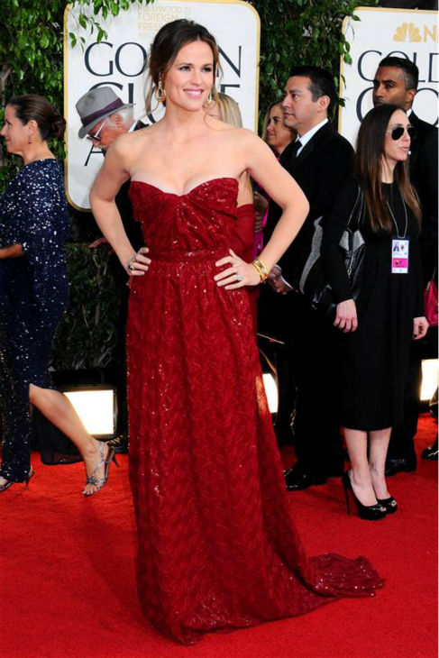 Jenny Garner appears at the 2013 Golden Globe Awards in Beverly Hills, California on Jan. 13, 2013. <span class=meta>(Sara De Boer &#47; Startraksphoto.com)</span>