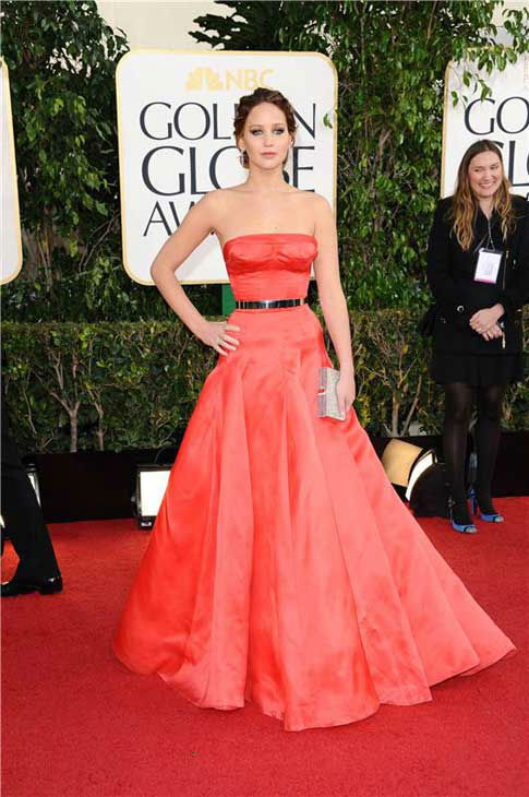 Jennifer Lawrence appears at the70th Annual Golden Globe Awards on Jan. 13, 2013. <span class=meta>(Sara De Boer&#47;startraksphoto.com)</span>