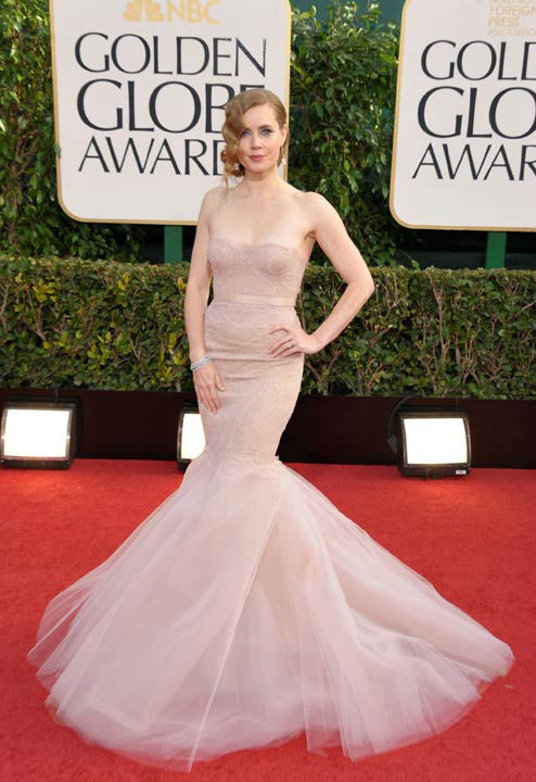 Amy Adams arrives at the 70th Annual Golden Globe Awards at the Beverly Hilton Hotel on Sunday Jan. 13, 2013, in Beverly Hil