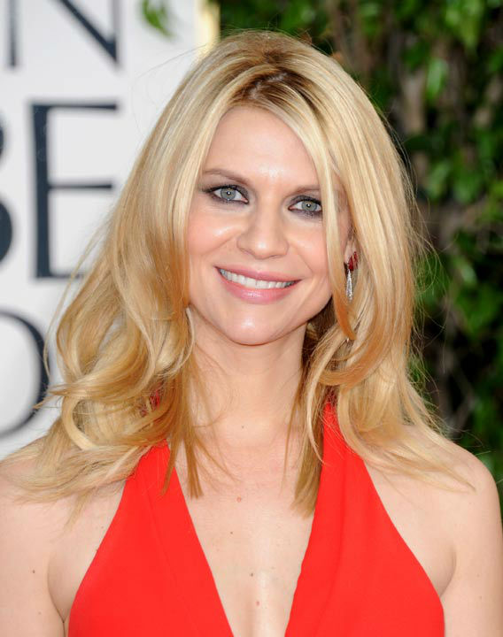 Actress Claire Danes arrives at the 70th Annual Golden Globe Awards at the Beverly Hilton Hotel on Sunday Jan. 13, 2013, in Beverly Hills, Calif.