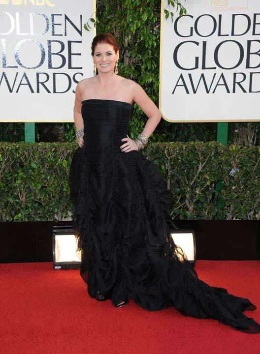 "<div class=""meta ""><span class=""caption-text "">Actress Debra Messing arrives at the 70th Annual Golden Globe Awards at the Beverly Hilton Hotel on Sunday Jan. 13, 2013, in Beverly Hills, Calif.  (Photo/Jordan Strauss)</span></div>"