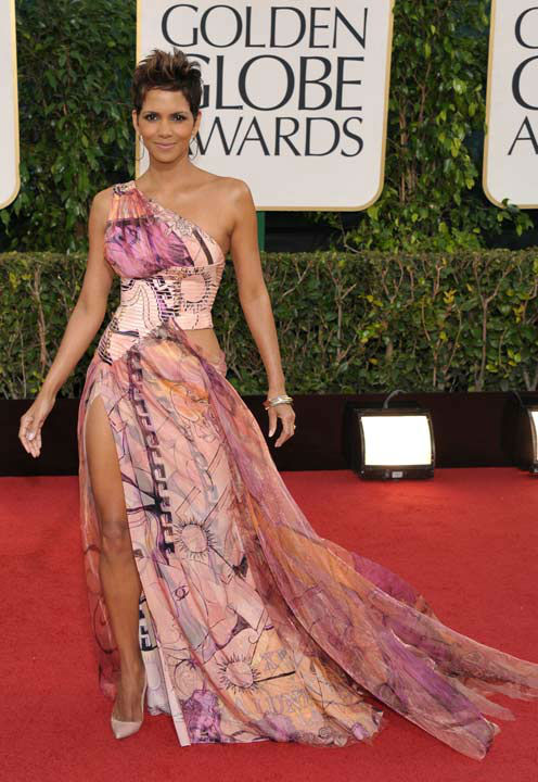 Actress Halle Berry arrives at the 70th Annual Golden Globe Awards at the Beverly Hilton H