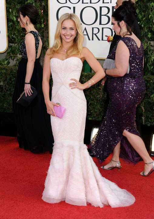 Actress Hayden Panettiere arrives at the 70th Annual Golden Globe Awards at the Beverly Hilton Hotel on Sunday Jan. 13, 2013, in Beverly Hills,
