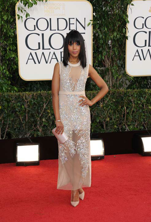 Actress Kerry Washington arrives at the 70th Annual Golden Globe Awards at the Beverly Hilton Hotel on Sunday
