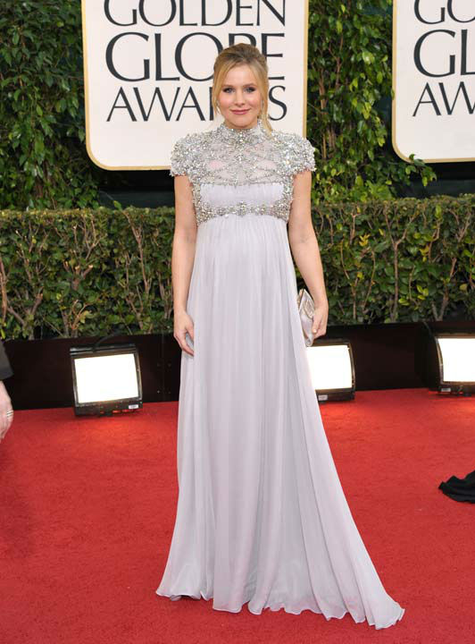 Actress Kristen Bell arrives at the 70th Annual Golden Globe Awards at the Beverly Hilton Hotel on Sunday Jan. 13, 2013, in Beverly Hills, Calif.  <span class=meta>(Photo&#47;John Shearer)</span>