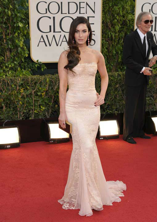 Actress Megan Fox arrives at the 70th Annual Golden Globe Awards at the Beverly Hilton Hotel on Sunday Jan. 13
