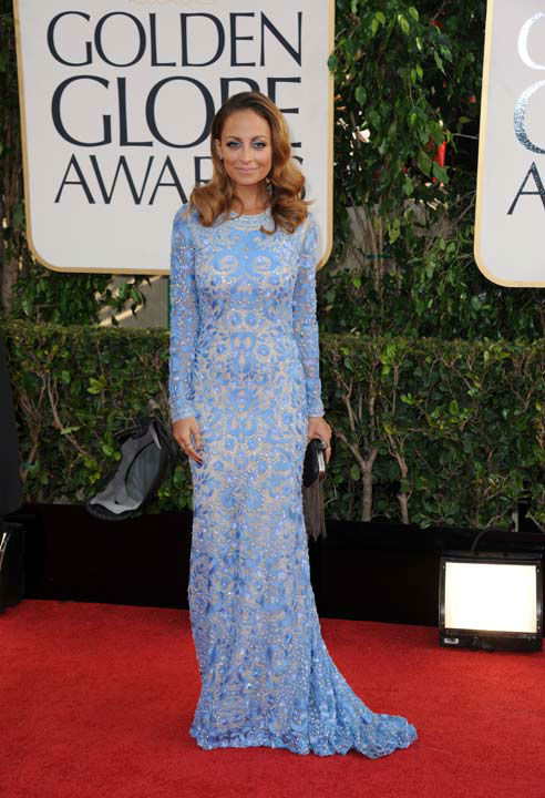 "<div class=""meta ""><span class=""caption-text "">Designer Nicole Richie arrives at the 70th Annual Golden Globe Awards at the Beverly Hilton Hotel on Sunday Jan. 13, 2013, in Beverly Hills, Calif. (Photo/Jordan Strauss)</span></div>"