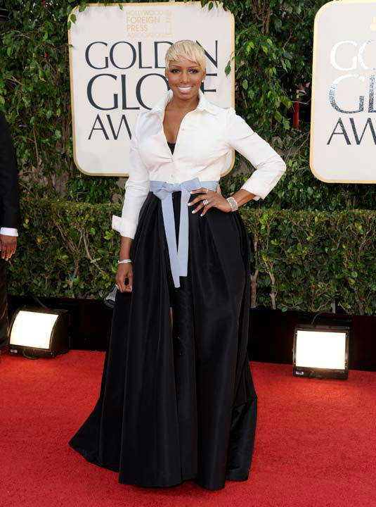 Actress and TV personality NeNe Leakes arrives at the 70th Annual Golden Globe Awards at the Beverly Hilton Hotel on Sunday Jan. 13, 2013, in Beverly Hi