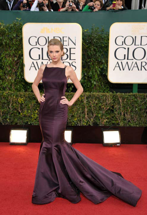 Musician Taylor Swift arrives at the 70th Annual Golden Globe Awards at the Beverly Hilton Hotel on Sunda
