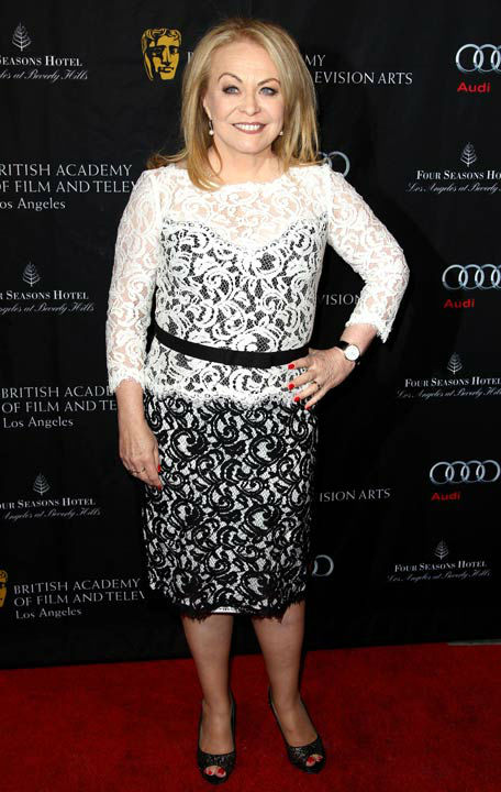 Oscar nominee Jacki Weaver arrives at the BAFTA Awards Season Tea Party at The Four Seasons Hotel on Saturday, Jan. 12, 2013, in Los Angeles.