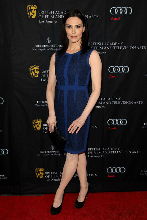 Michelle Forbes arrives at the BAFTA Awards...