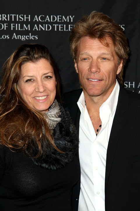 Jon Bon Jovi, right, and Dorothea Hurley arrive at the BAFTA Awards Season Tea Party at The Four Seasons Hotel on Saturday, Jan. 12, 2013, in Los Angeles.