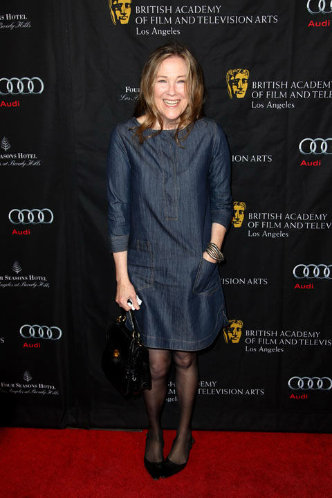 Catherine O'Hara arrives at the BAFTA Awards Season Tea Party at The Four Seasons Hotel on Saturday, Jan. 12, 2013, in Los Angeles.