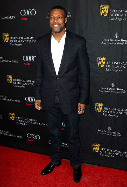 Chris Tucker arrives at the BAFTA Awards Season Tea Party at The Four Seasons Hotel on Saturday, Jan. 12, 2013, in Los Angeles.