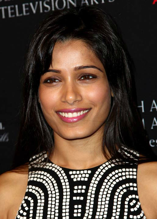 Freida Pinto arrives at the BAFTA Awards Season...
