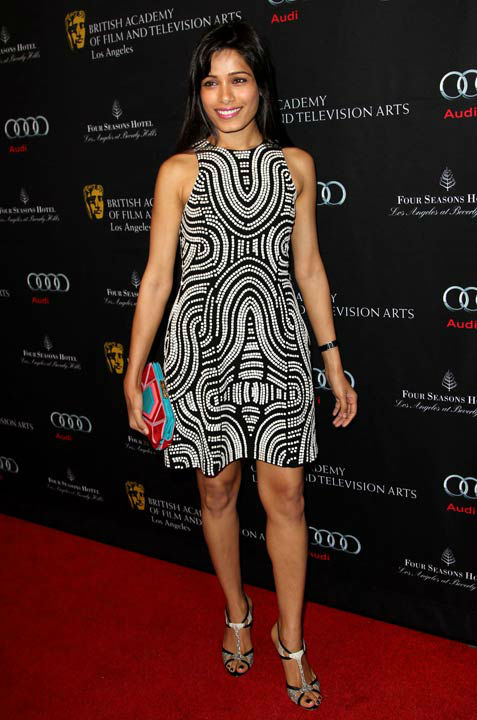 "<div class=""meta image-caption""><div class=""origin-logo origin-image ""><span></span></div><span class=""caption-text"">Freida Pinto arrives at the BAFTA Awards Season Tea Party at The Four Seasons Hotel on Saturday, Jan. 12, 2013, in Los Angeles.  (Photo/Matt Sayles)</span></div>"