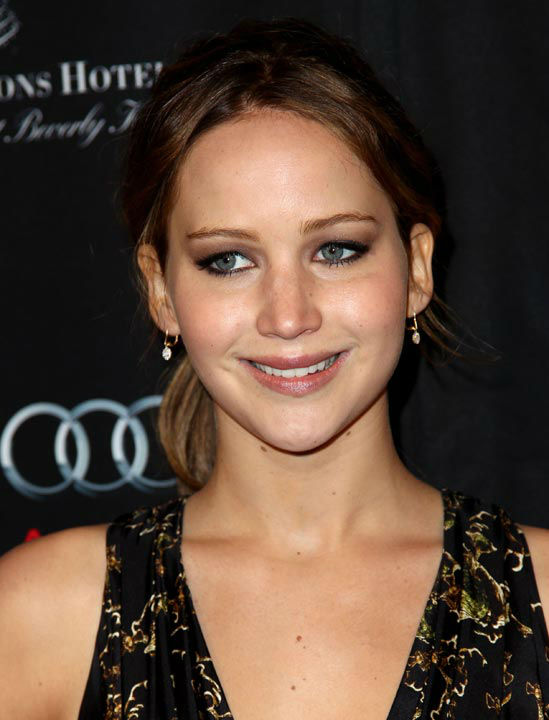 Jennifer Lawrence arrives at the BAFTA Awards...