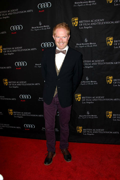 "<div class=""meta image-caption""><div class=""origin-logo origin-image ""><span></span></div><span class=""caption-text"">Jesse Tyler Ferguson arrives at the BAFTA Awards Season Tea Party at The Four Seasons Hotel on Saturday, Jan. 12, 2013, in Los Angeles.  (Photo/Matt Sayles)</span></div>"