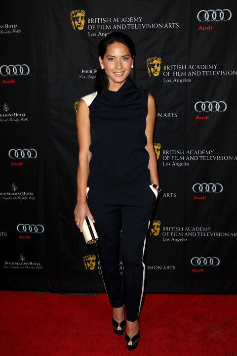 "<div class=""meta ""><span class=""caption-text "">Olivia Munn arrives at the BAFTA Awards Season Tea Party at The Four Seasons Hotel on Saturday, Jan. 12, 2013, in Los Angeles.  (Photo/Matt Sayles)</span></div>"