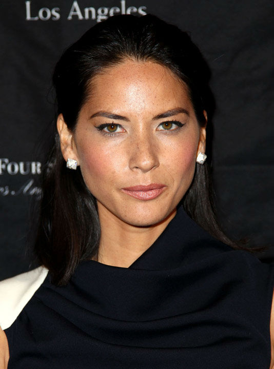 Olivia Munn arrives at the BAFTA Awards Season Tea Party at The Four Seasons Hotel on Saturday, Jan. 12, 2013, in Los Angeles.