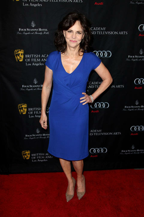 Oscar nominee Sally Field arrives at the BAFTA Awards Season Tea Party at The Four Seasons Hotel on Saturday, Jan. 12, 2013, in Los Angeles.
