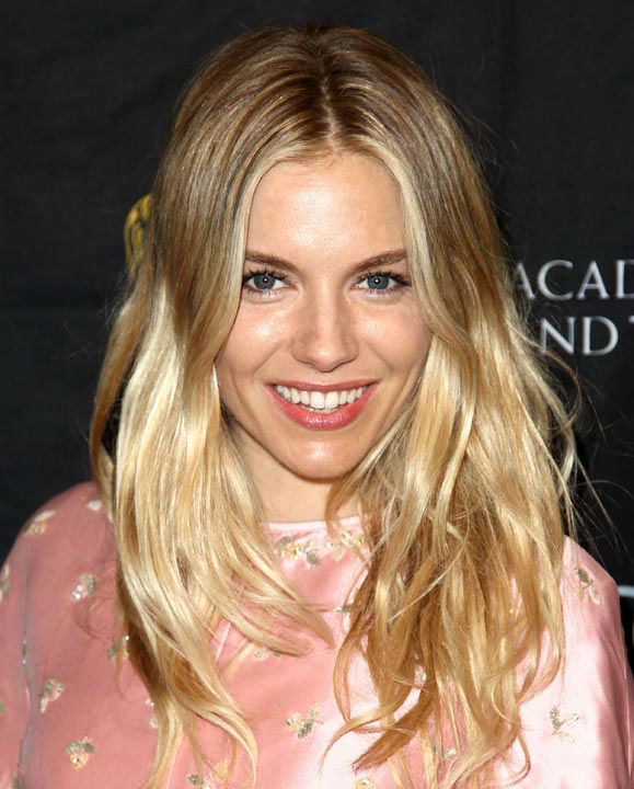 Sienna Miller arrives at the BAFTA Awards Season Tea Party at The Four Seasons Hotel on Saturday, Jan. 12, 2013, in Los Angeles.