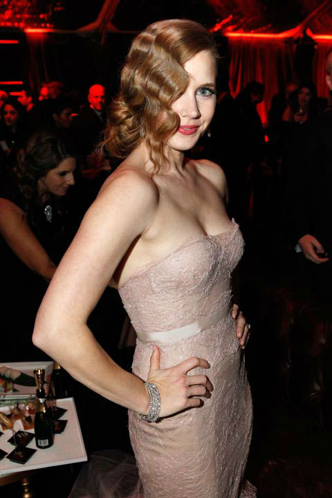 "<div class=""meta ""><span class=""caption-text "">Actress Amy Adams attends The Weinstein Company's 2013 Golden Globe Awards after party presented by Chopard, HP, Laura Mercier, Lexus, Marie Claire, and Yucaipa Films held at The Old Trader Vic's at The Beverly Hilton Hotel on January 13, 2013 in Beverly Hills, California.  (Photo/Ari Perilstein / Mike Swindle / Wireimage)</span></div>"