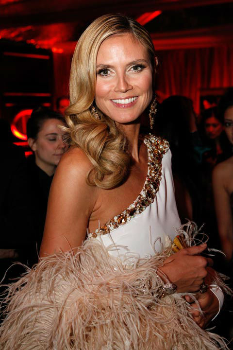 "<div class=""meta ""><span class=""caption-text "">Model/television personality Heidi Klum attends The Weinstein Company's 2013 Golden Globe Awards after party presented by Chopard, HP, Laura Mercier, Lexus, Marie Claire, and Yucaipa Films held at The Old Trader Vic's at The Beverly Hilton Hotel on January 13, 2013 in Beverly Hills, California.  (Ari Perilstein / Mike Swindle / Wireimage)</span></div>"