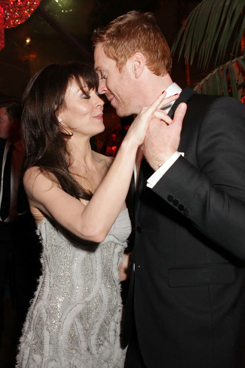 Damian Lewis (R) and Helen McCrory attends The...
