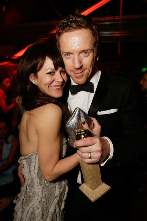 Damian Lewis (R) and Helen McCrory attend The...