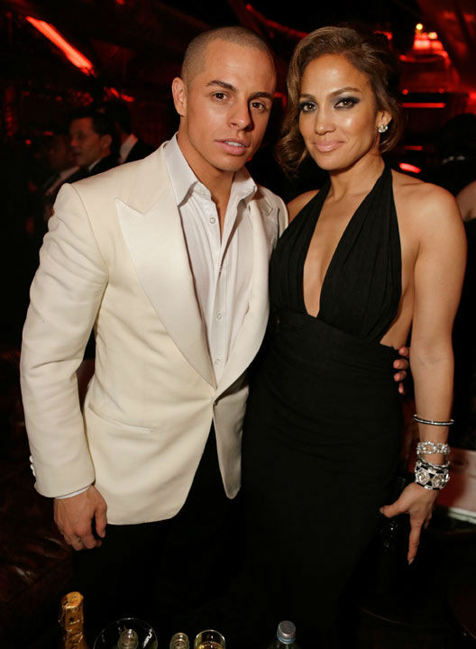 Actress Jennifer Lopez (R) and Casper Smart...