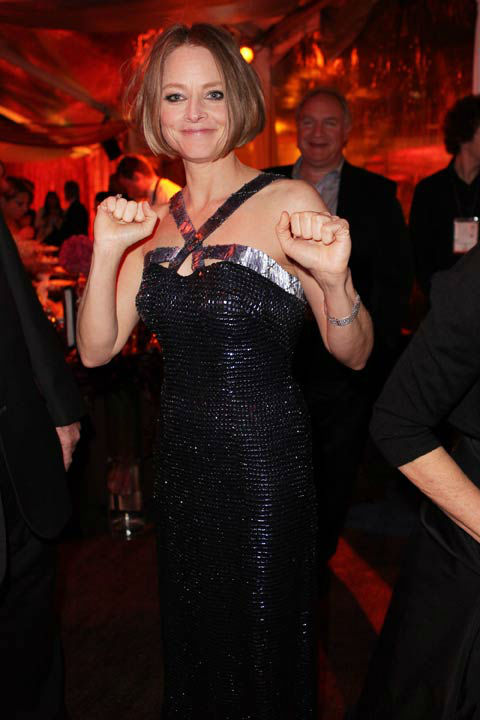 "<div class=""meta ""><span class=""caption-text "">Actress Jodie Foster attends The Weinstein Company's 2013 Golden Globe Awards after party presented by Chopard, HP, Laura Mercier, Lexus, Marie Claire, and Yucaipa Films held at The Old Trader Vic's at The Beverly Hilton Hotel on January 13, 2013 in Beverly Hills, California.  (Mike Swindle / Wireimage)</span></div>"