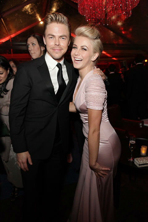 Derek Hough and Julianne Hough attend The Weinstein Company&#39;s 2013 Golden Globe Awards after party presented by Chopard, HP, Laura Mercier, Lexus, Marie Claire, and Yucaipa Films held at The Old Trader Vic&#39;s at The Beverly Hilton Hotel on January 13, 2013 in Beverly Hills, California.   <span class=meta>(Wireimage Photo for The Weinstein Company &#47; Mike Windle)</span>