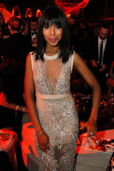 "<div class=""meta ""><span class=""caption-text "">Actress Kerry Washington attends The Weinstein Company's 2013 Golden Globe Awards after party presented by Chopard, HP, Laura Mercier, Lexus, Marie Claire, and Yucaipa Films held at The Old Trader Vic's at The Beverly Hilton Hotel on January 13, 2013 in Beverly Hills, California.  (Photo/Ari Perilstein)</span></div>"