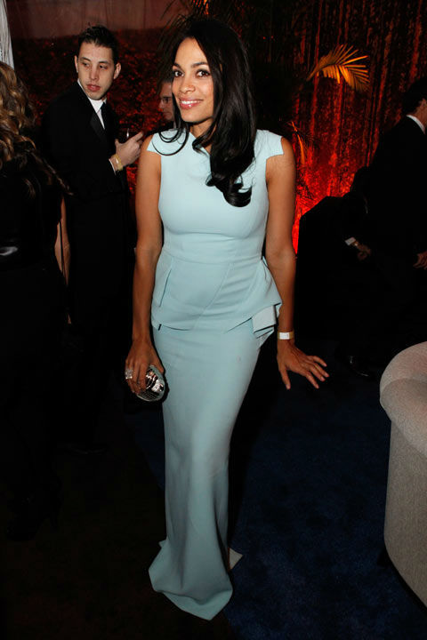 Actress Rosario Dawson attends The Weinstein Company's 2013 Golden Globe Awards after party presented by Chopard, HP, Laura Mercier, Lexus, Marie Claire, and Yucaipa Films held at The Old Trader Vic's at The Beverly Hilton Hotel on January 13, 2013 in