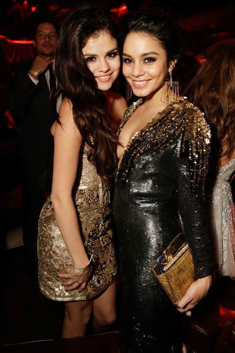Selena Gomez and Vanessa Hudson attend The Weinstein Company's 2013 Golden Globe Awards after party presented by Chopard, HP, Laura Mercier, Lexus, Marie Claire, and Yucaipa Films held at The Old Trader Vic's at The Beverly Hilton Hotel on January 13