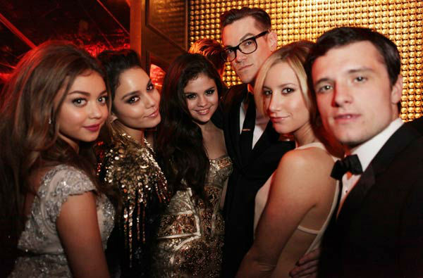"<div class=""meta ""><span class=""caption-text "">Actors Sarah Hyland, Vanessa Hudson, Selena Gomez, Ashley Tisdale and Josh Hutcherson attends The Weinstein Company's 2013 Golden Globe Awards after party presented by Chopard, HP, Laura Mercier, Lexus, Marie Claire, and Yucaipa Films held at The Old Trader Vic's at The Beverly Hilton Hotel on January 13, 2013 in Beverly Hills, California.   (Photo/Mike Windle)</span></div>"